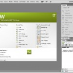 Pantalla principal de Dreamweaver CS4